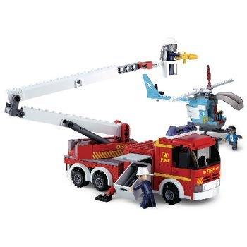 Bouwstenen Fire Serie Telescopisch Platform met Helikopter