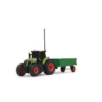 R/C-Tractor CLAAS Axion 850 met Aanhanger RTR 1:28 Groen