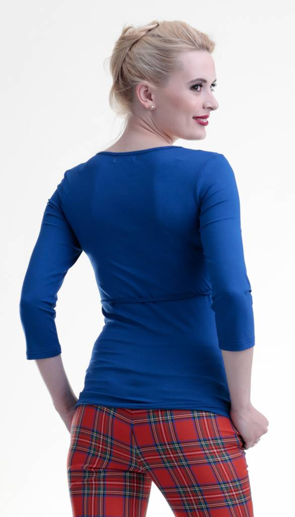 Umstandsshirt - Stillshirt royalblau von mamaija