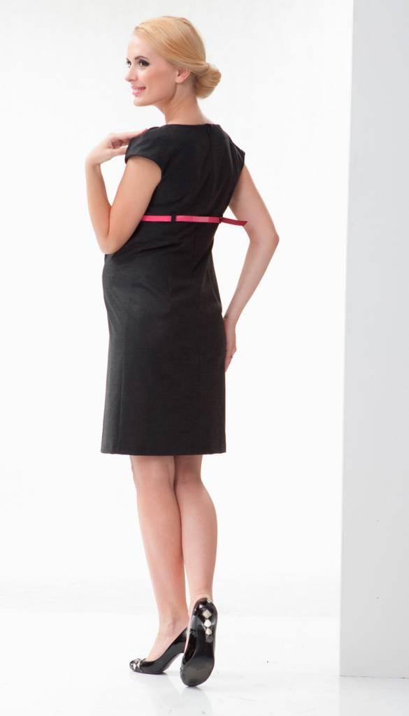 schwarzes Etuikleid Umstandskleid mit Gürtel  von mamaija