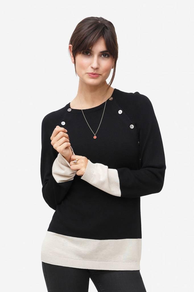 Milker Nursing schwarzer Stillpulli aus Wolle von Milker Nursing