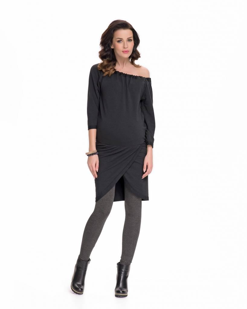 schwarzes Umstandssweatshirt Umstandstunika Sweattunika von 9fashion