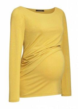 9fashion - elegante und bequeme Umstandsmode Umstandsshirt - Stillshirt senfgelb