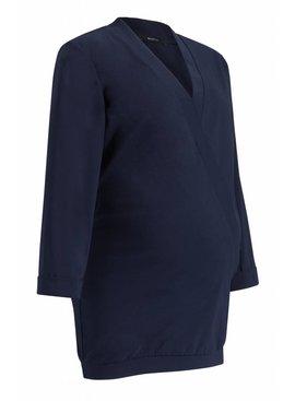 9fashion - elegante und bequeme Umstandsmode dunkelblaue Business Umstandsbluse