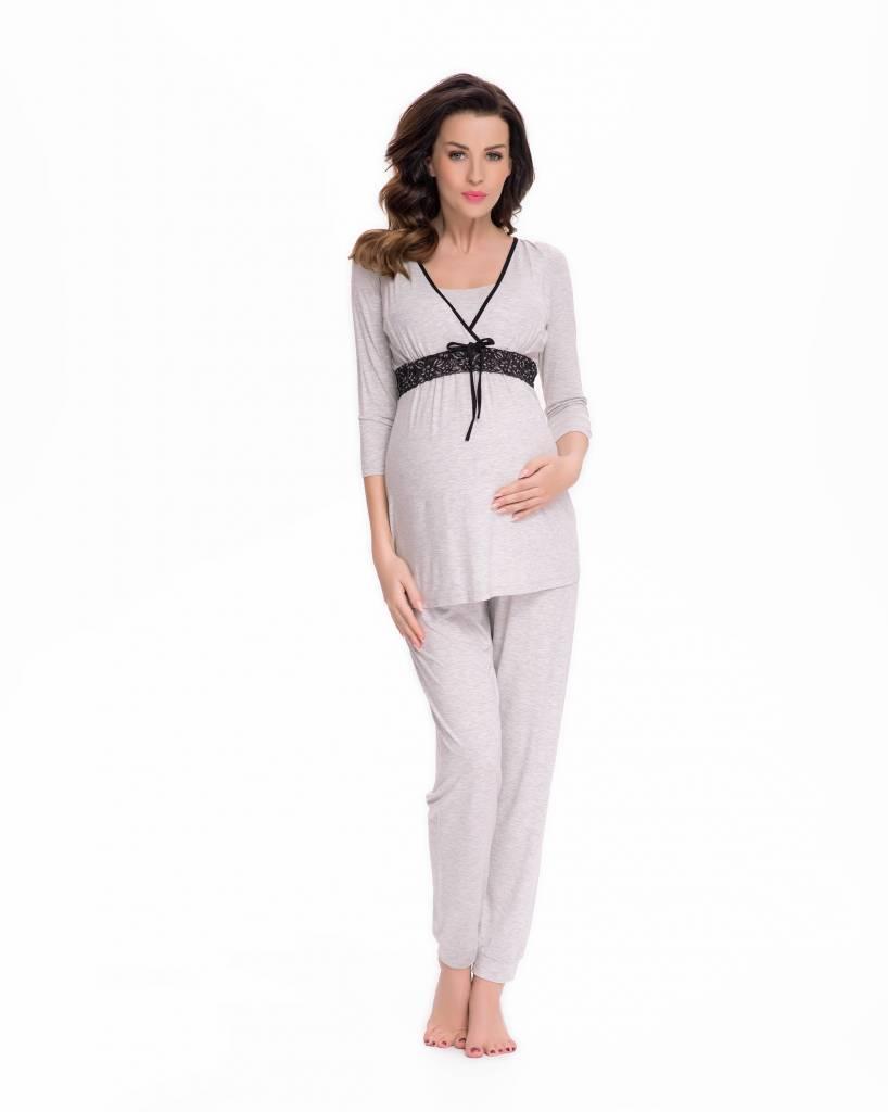 Pyjama mit Stillfunktion mit Spitze von 9fashion