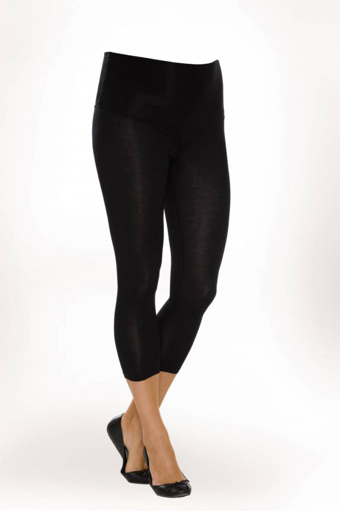 9fashion schwarze kurze Umstandsleggings von 9fashion