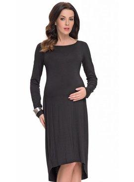 9fashion - schöne und festliche Umstandsmode  schwarzes festliches Umstandskleid mit Spitze