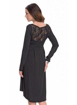 9fashion - elegante und bequeme Umstandsmode schwarzes Umstandskleid Spitze