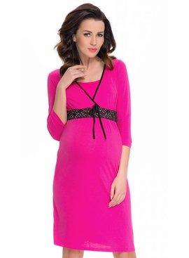 9fashion - elegante und bequeme Umstandsmode pinkes Umstandsnachthemd - Stillnachthemd