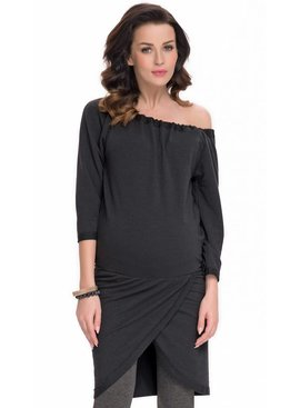 9fashion - elegante und bequeme Umstandsmode schwarzes Umstandssweatshirt