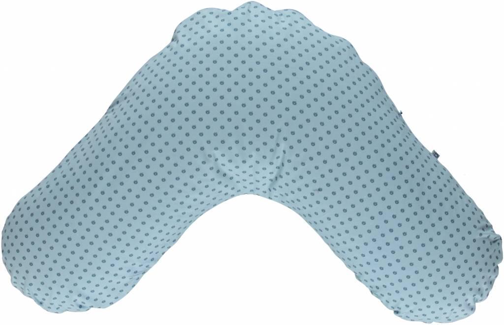 blaue Stillkissenhülle von Smafolk