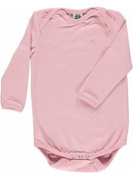 Småfolk - bunte skandinavische Mode rosa Body uni BIO