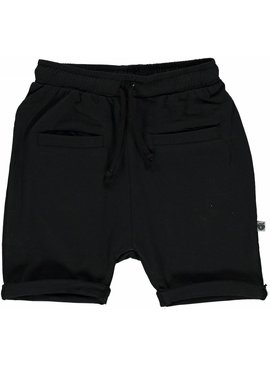 Småfolk - bunte skandinavische Mode schwarze Baby Shorts BIO