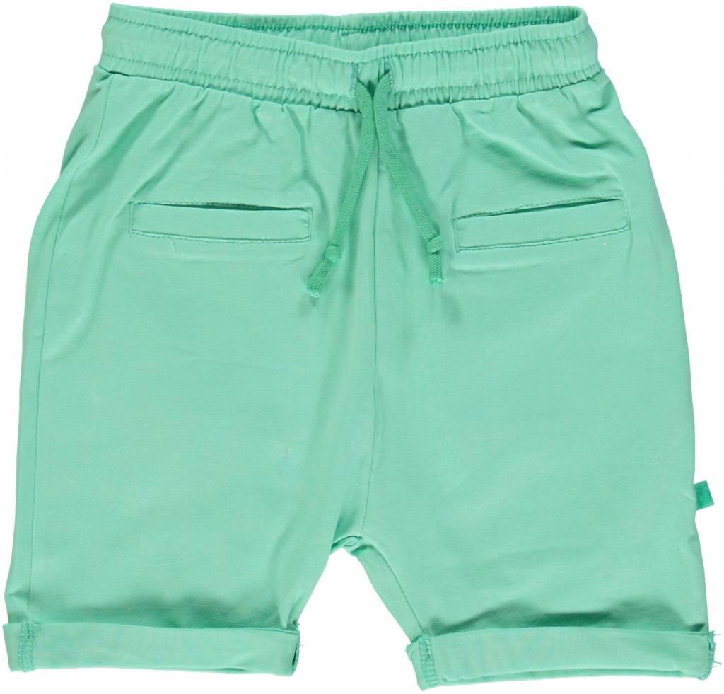 Småfolk - bunte skandinavische Mode grüne Baby Shorts BIO uni BIO (GOTS) von Smafolk