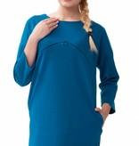 mamaija - sinnliche und funktionale Umstandsmode blaues Umstandskleid - Stillkleid von mamaija