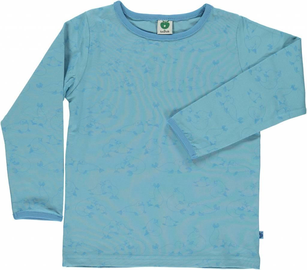 blaues Langarmshirt von Smafolk