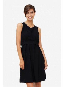 schwarzes Stillkleid Umstandskleid Bambus