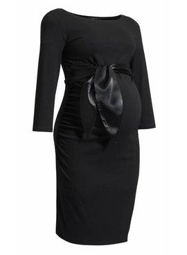 9fashion - schicke Umstandsmode und Stillmode festliches Umstandskleid in schwarz mit Satinschleife