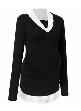 9fashion schicker Blusenpullover 2in1