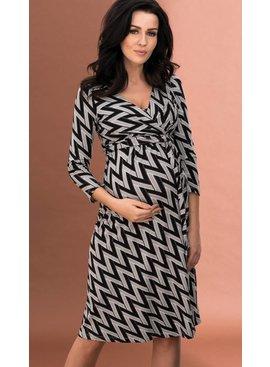 9fashion - schicke Umstandsmode und Stillmode Umstandskleid - Stillkleid schwarz-grau