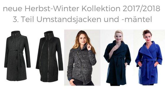 3. Teil neue Herbst Winter Umstandsjacke Umstandsmantel 2017/2018