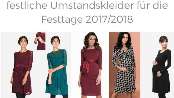 Die schönsten Umstandskleider zu Weihnachten und Silvester 2017/2018!
