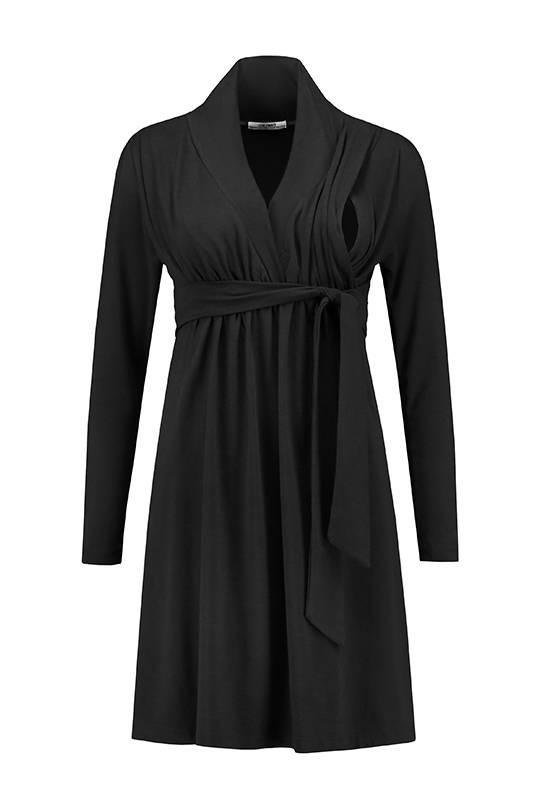 Love2Wait schwarzes, festliches Umstandskleid mit Stillfunktion BIO Tencel® von Love2Wait