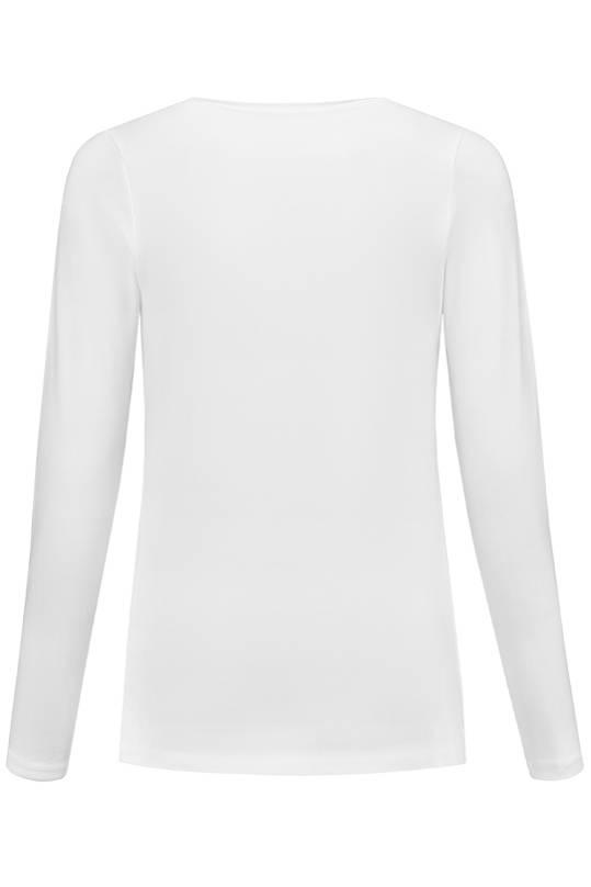 Love2Wait weißes, Basic Umstandsshirt mit Stillfunktion  BIO Tencel® von Love2Waitlangarm