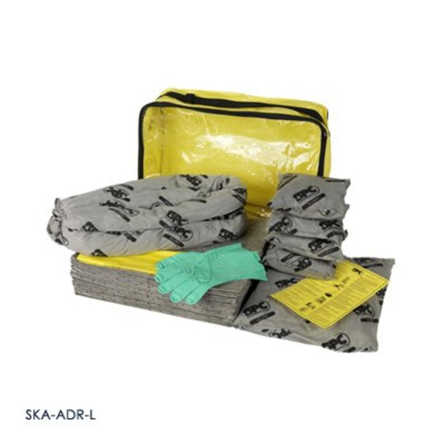Interventie kit groot met al het absorptiemateriaal conform ADR 2005-overeenkomst SKO-ADR-L / SKA-ADR-L / SKH-ADR-L ADR