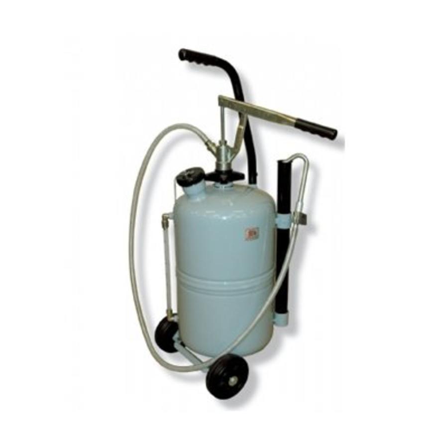 Mobiele olie dispenser met handpomp en drukmeter 25l 137-37