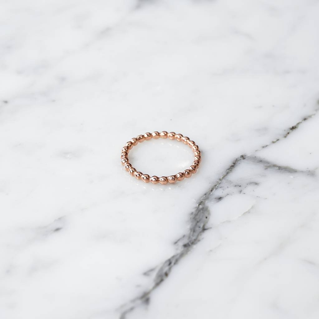 Ball ring | rose gold plated 925 silver