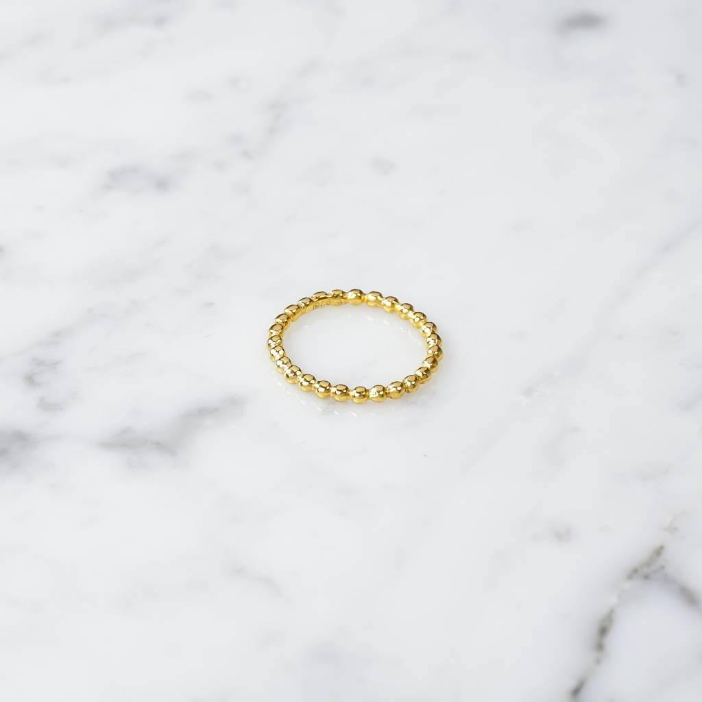 Kugelring aus vergoldetem 925er Silber