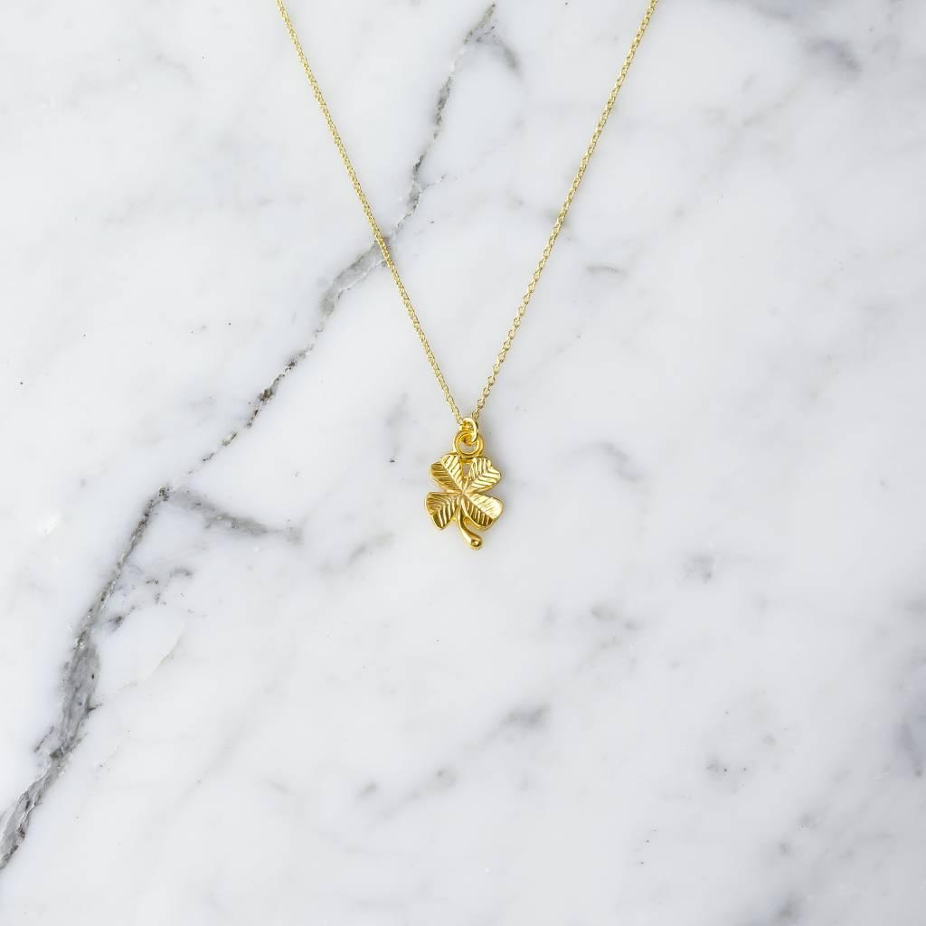 Cloverleaf | gold plated brass