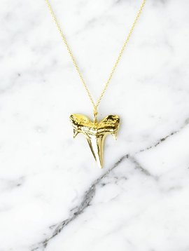 Shark tooth | gold plated