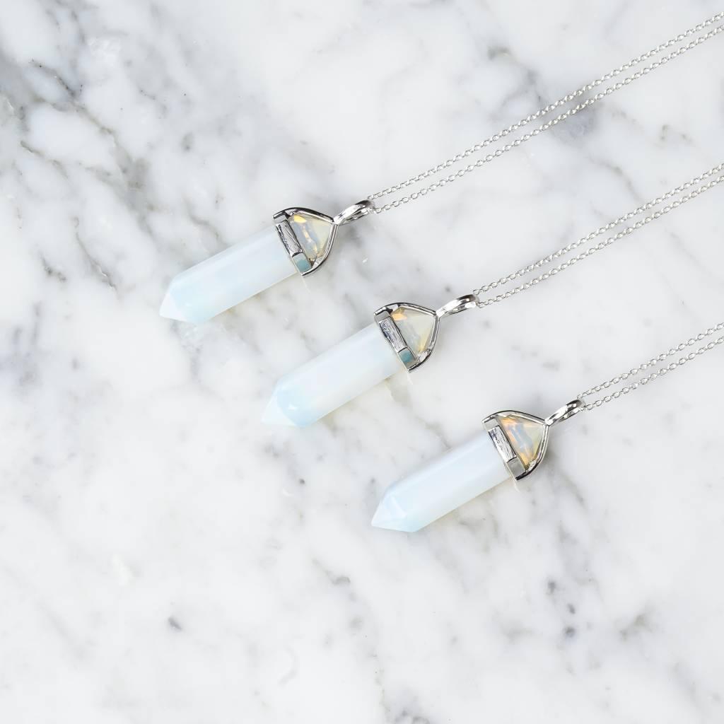 Stäbchen   Opal  silber
