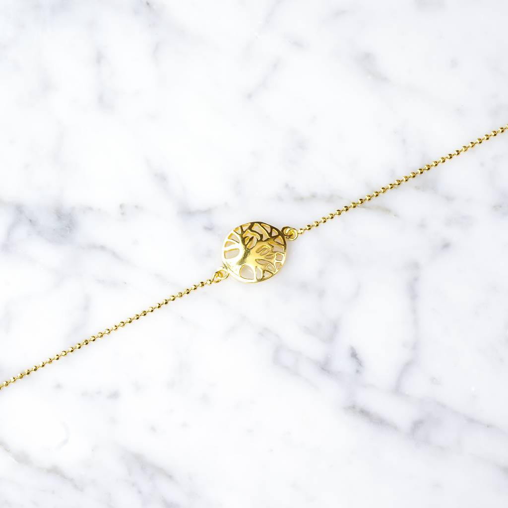 Armband mit Lebensbaum aus 925er Silber vergoldet
