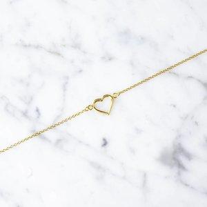 Armband mit Herz aus 925er Silber vergoldet