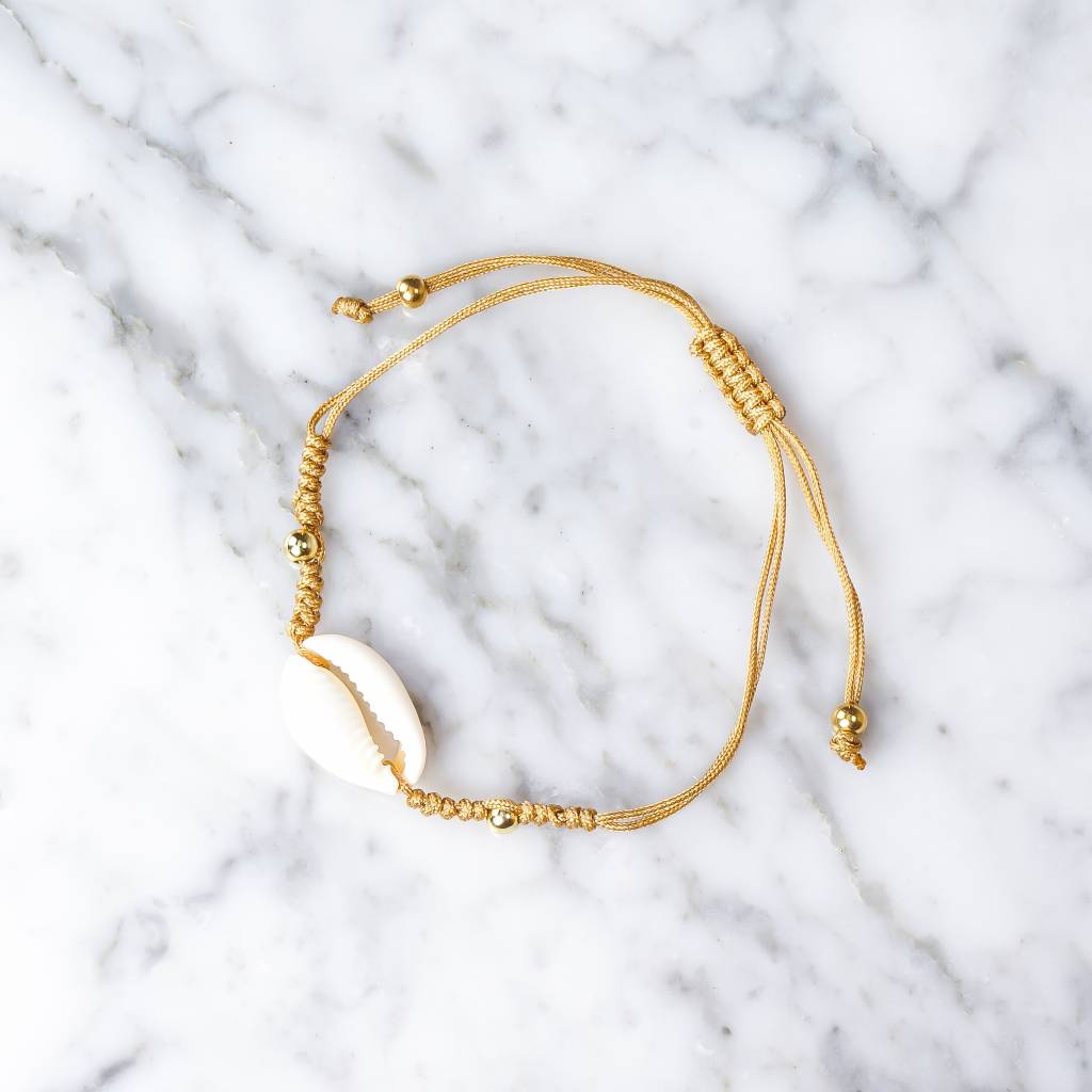 Bracelet with shell | gold