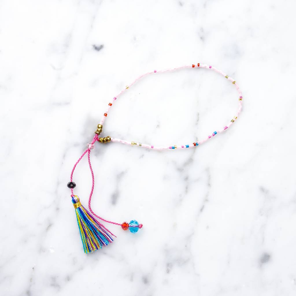 Bracelet with Tassel | rose
