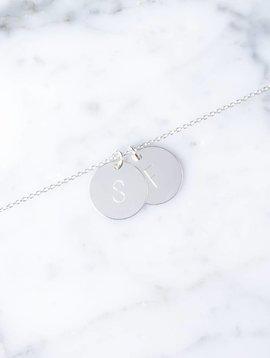 doppeltes Initialarmband | 925er Silber