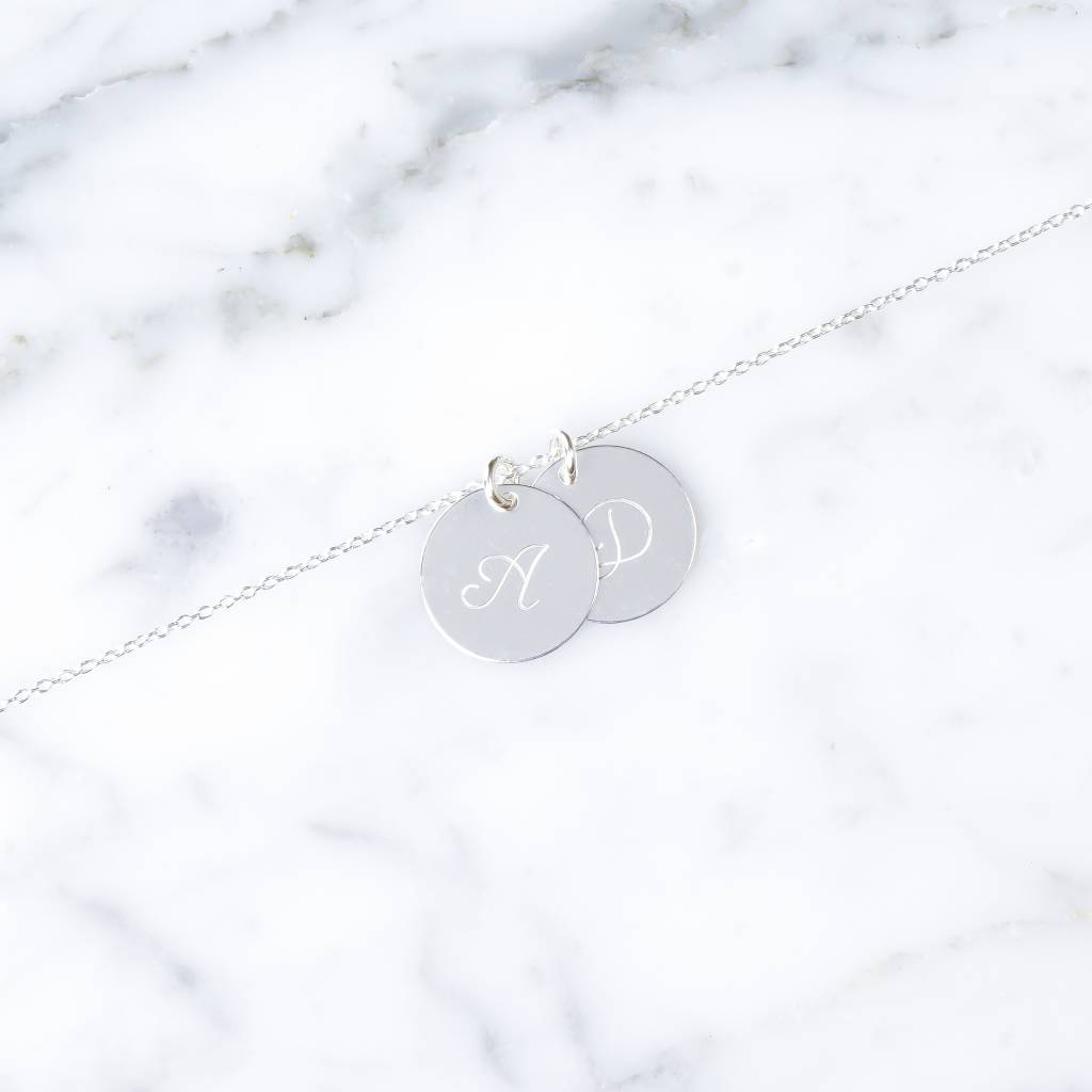 Double initial bracelet | 925 silver