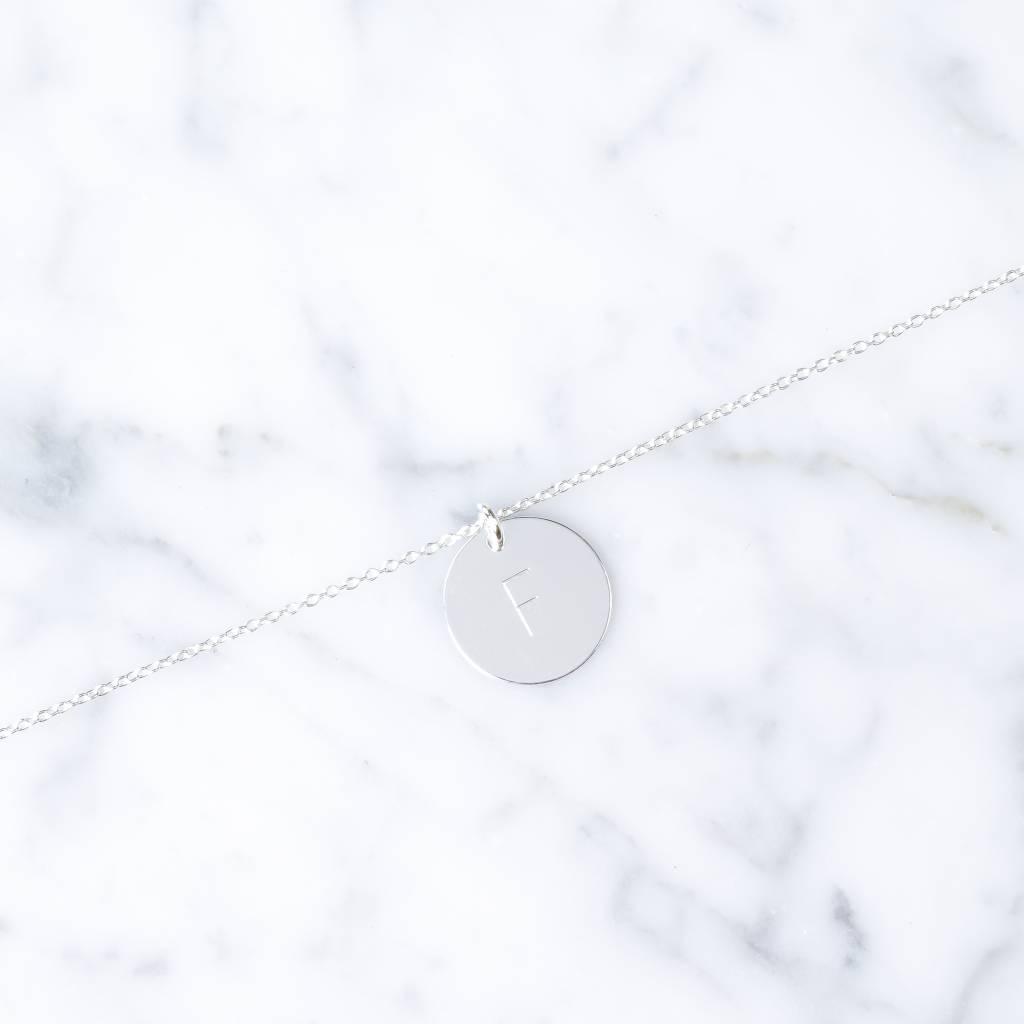 einfaches Initialarmband | 925er Silber