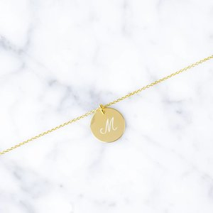 single initial bracelet | gold-plated