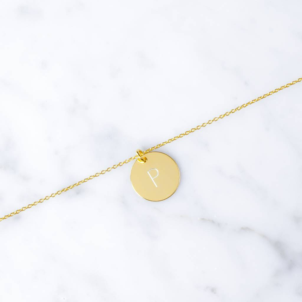 Single initial bracelet | Gold plated