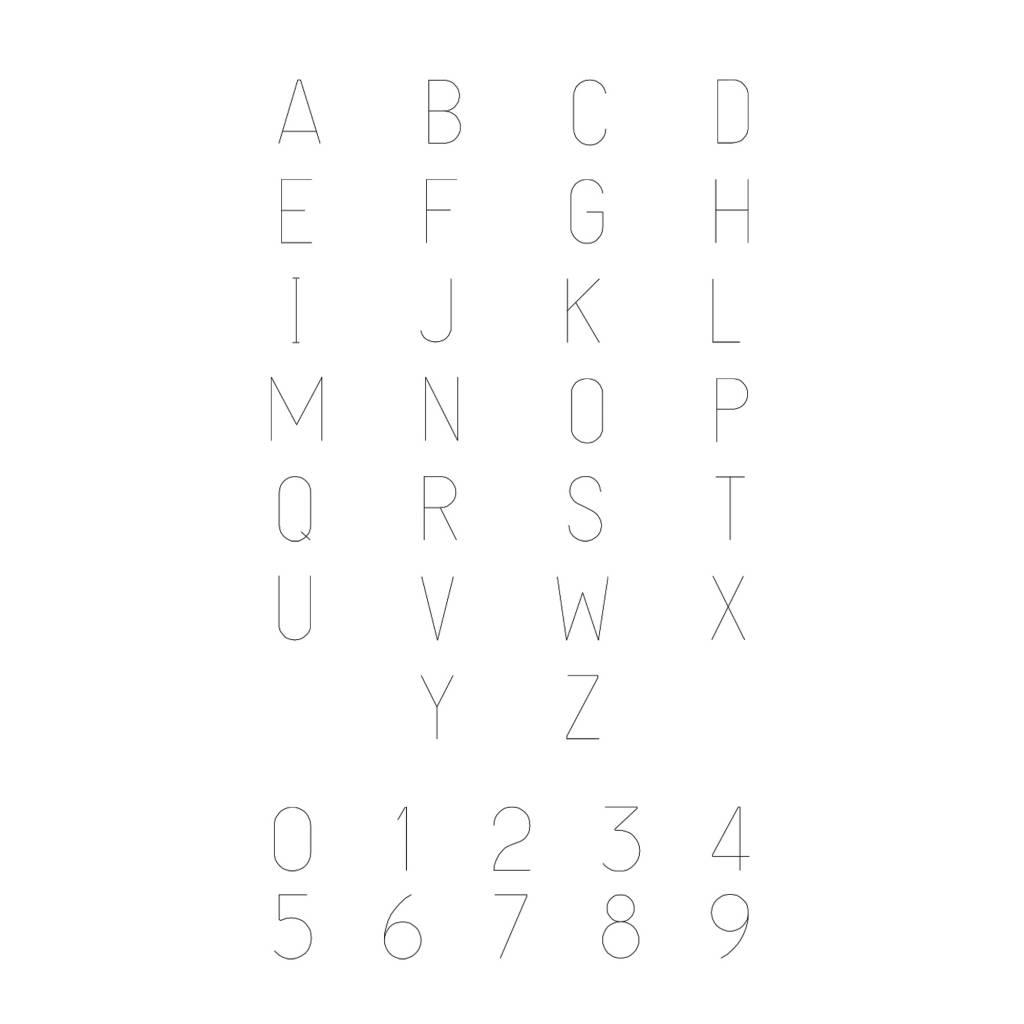 einfache Initialkette | 925er Silber