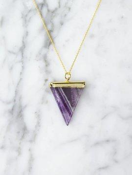 Triangle Amethyst | gold