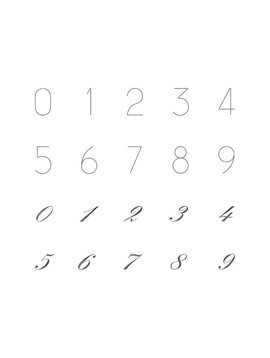 Number pendant