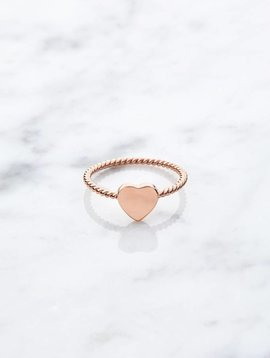 Little heart | rose gold plated 925 silver