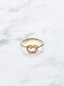 Little knot |  gold plated 925 silver