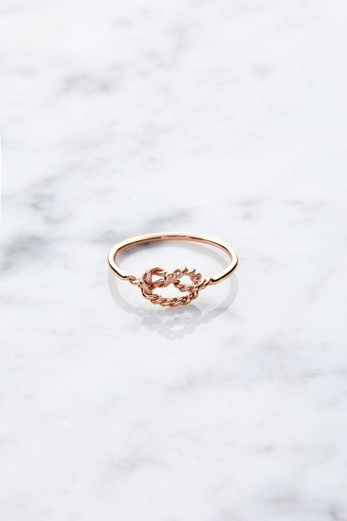 Little knot | rose gold plated 925 silver